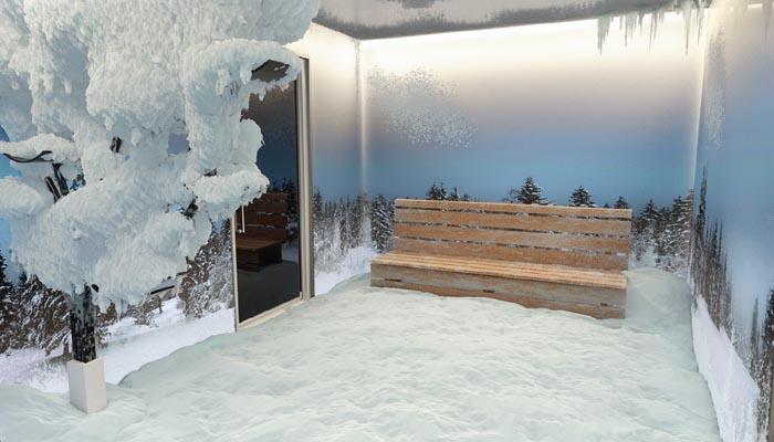 Merano, la neve alle Terme