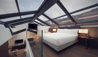 Suite con soffitto di vetro