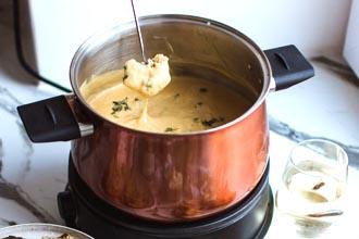 La fonduta di formaggi