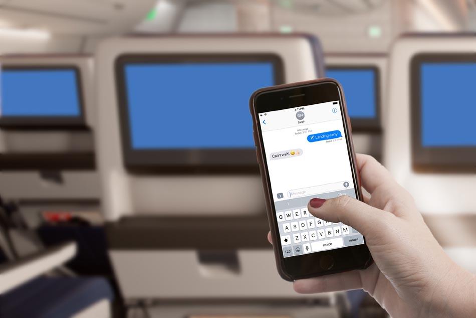 Delta Air Lines, messaggi gratuiti in volo